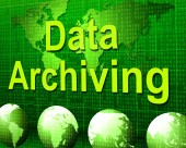Data Archiving Shows Fact Storage And Catalog — Stock Photo