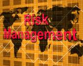 Risk Management Indicates Hazard Danger And Unsteady — Stock Photo