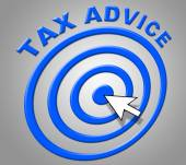 Tax Advice Indicates Info Recommendations And Support — Stock Photo