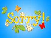 Sorry Message Means Correspondence Communicate And Correspond — Stock Photo