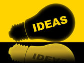Ideas Lightbulb Indicates Bright Conception And Innovations — Stock Photo