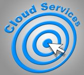 Cloud Services Represents Network Server And Advice — Stock Photo