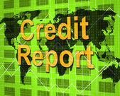 Credit Report Shows Debit Card And Analysis — Stock Photo