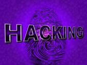 Internet Hacking Represents World Wide Web And Attack — Stock Photo