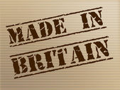 Made In Britain Indicates Export Commercial And British — Stock Photo