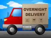 Overnight Delivery Represents Next Day And Courier — Stock Photo