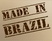 Made In Brazil Means South America And Brazilian — Stock Photo
