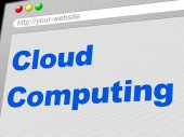Cloud Computing Indicates Network Server And Computer — Stock Photo