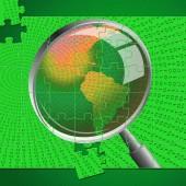 Magnifying Glass Indicates Check Up And Checkup — Stock Photo