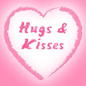 Hugs And Kisses Represents Find Love And Dating — Stock Photo