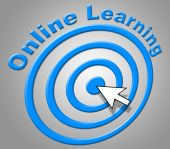 Online Learning Indicates World Wide Web And College — Foto de Stock