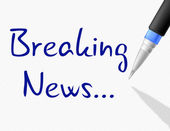 Breaking News Shows At This Time And Info — Stock Photo