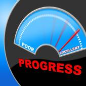 Excellent Progress Means Growth Headway And Fineness — Stock Photo