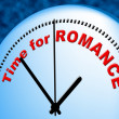 Time For Romance Means At The Moment And Compassion — Stock Photo #56001235