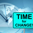 Time For Change Means At The Moment And Changing — Zdjęcie stockowe