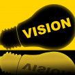 Постер, плакат: Vision Lightbulb Indicates Plans Plan And Target
