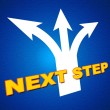 Постер, плакат: Next Step Indicates Achievement Pointing And Forward