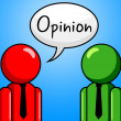 Opinion Conversation Indicates Point Of View And Assumption — Stock Photo #56005955