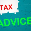 Tax Advice Shows Duties Duty And Taxpayer — Stock Photo #56005967