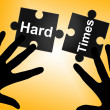 Hard Times Indicates Overcome Obstacles And Challenge — Stock Photo #56006477