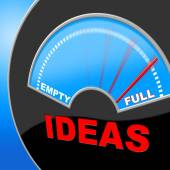 Full Of Ideas Indicates Indicator Invention And Inventions — Stock Photo