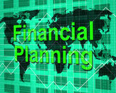 Financial Planning Shows Figures Accounting And Objective — Stock Photo