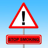 Stop Smoking Indicates Lung Cancer And Habit — Stock Photo