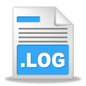 Log File Represents Organized Logbook And Organize — Stock Photo