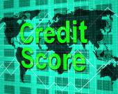 Credit Score Means Debit Card And Bankcard — Stock Photo