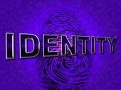 Identity Fingerprint Means Log Ins And Account — Stock Photo