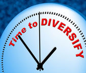 Time To Diversify Indicates At The Moment And Currently — Stock Photo