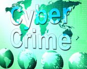 Cyber Crime Shows World Wide Web And Felony — Stock Photo