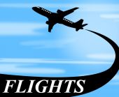 Flights Plane Shows Go On Leave And Air — Stock Photo