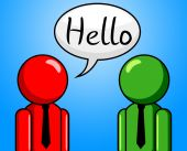 Hello Conversation Means How Are You And Consultation — Foto Stock