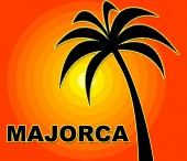Majorca Holiday Indicates Go On Leave And Heat — Stock Photo