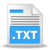 Text File Represents Folders Binder And Folder — Stock Photo