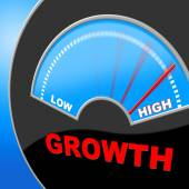 High Growth Means Gain Increase And Rise — Stock Photo