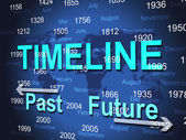 Time Line Represents Timeline Chart And Done — Stock Photo