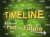 Time Line Shows Long Ago And Done — Stock Photo