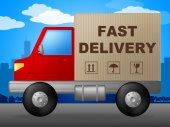 Fast Delivery Indicates High Speed And Action — Stock Photo