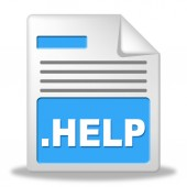 Help File Means Paperwork Correspondence And Document — Stok fotoğraf