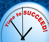 Time To Succeed Indicates At The Moment And Presently — Stock Photo