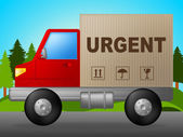 Urgent Delivery Shows Priority Speedy And Deadline — Stock Photo