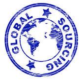 Global Sourcing Indicates Worldwide World And Globalise — Stock Photo
