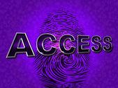 Access Security Indicates Forbidden Accessible And Entrance — Stock Photo