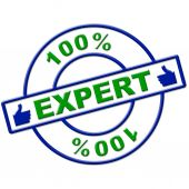 Hundred Percent Expert Means Excellence Completely And Skills — Stock Photo