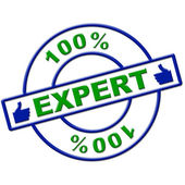 Hundred Percent Expert Means Excellence Completely And Skills — Stock fotografie