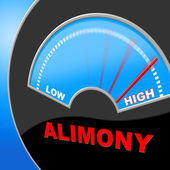 Alimony High Shows Over The Odds And Divorce — Stock Photo