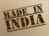 Made In India Indicates Import Commercial And Manufacturer — Stock Photo