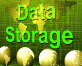 Data Storage Represents Hard Drive And Archive — Stock Photo